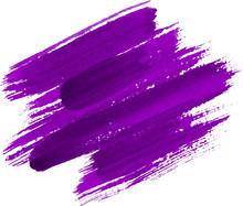 Purple Watercolor Texture Paint Stain Shining Brush Stroke