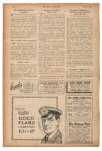 Newspaper Page English Text Advertising Pictures Vintage Magazine
