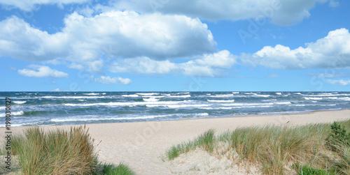 Fotografija  stürmischer Tag an der Ostsee auf der Insel Rügen nahe dem Seebad Baabe,Mecklenb