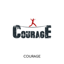 Courage Logo Isolated On White...