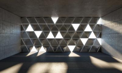 abstract 3d indoor