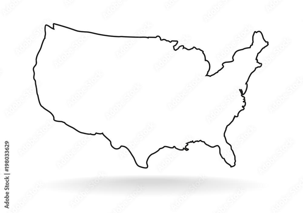 Fototapeta USA line icon