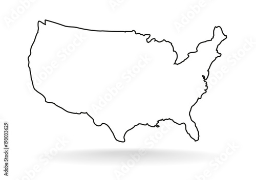 Fotografía USA line icon