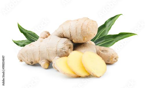 Fototapeta Ginger root isolated on white background obraz