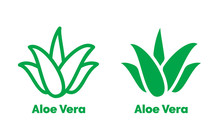 Aloe Vera Green Icon For Natur...