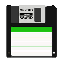 The Floppy Disk In The 3.5-inch Is Used In Older Computers. It Can Be Used As A Symbol Of The History Of Technology And Data Storage.