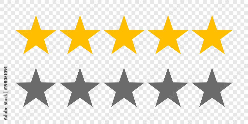 Fototapety, obrazy: Rating stars or 5 rate review vector web ranking star signs