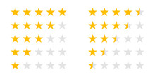 Rating Stars Icons For 5 Star ...