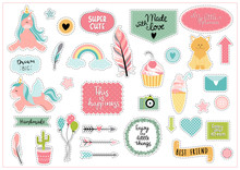 Set Of Colorful Scrapbooking S...