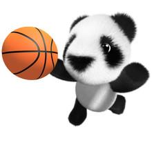 3d Funny Cartoon Baby Panda Be...