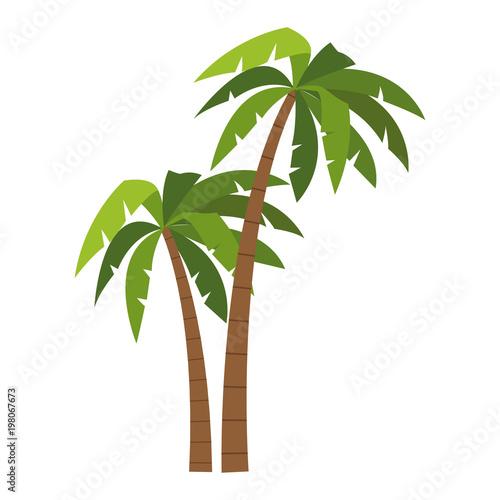 Tree palms cartoons vector illustration graphic design Canvas Print