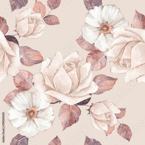 bezowe-tlo-z-kwiatami-akwareli