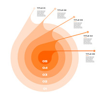 Concentric Infographics Step B...