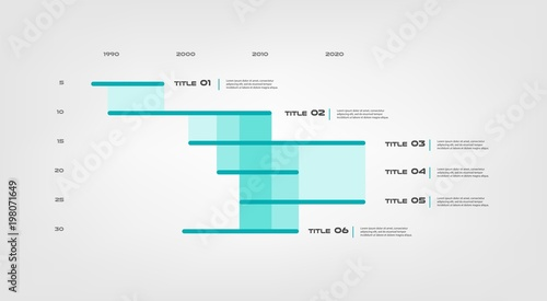 Fotografía  Gant infographic
