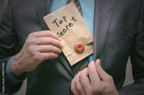 Photo Top secret documents presentation concept
