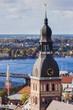 Riga Cathedral at city panorama