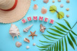 Top view: summer holidays