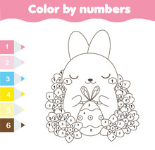 Easter Coloring Page. Color By...