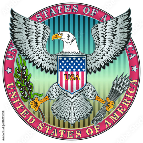 Fotografía  Coat of arms of the United States of America
