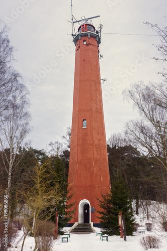 Foto op Aluminium Vuurtoren Lighthouse in Hel