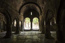 Sanahin, Armenia, September 20, 2017: Medieval Tombstones In The Sanahin Monastery In Armenia