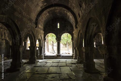 Sanahin, Armenia, September 20, 2017: Medieval tombstones in the Sanahin monaste Fototapete