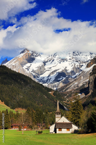 Foto op Aluminium Grijze traf. Kandersteg alpine landscape in Switzerland, Europe