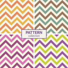 Zigzag Color Lines Seamless Patterns