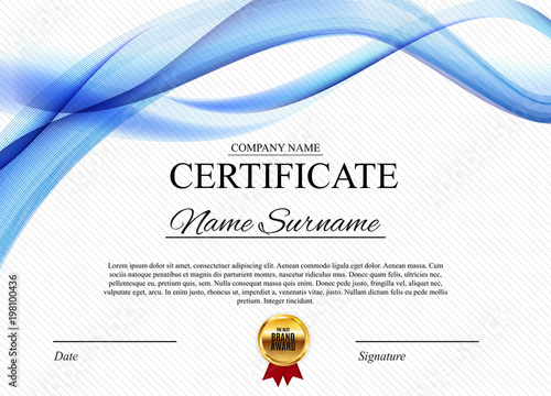 Certificate template background award diploma design blank vector certificate template background award diploma design blank vector illustration yadclub Choice Image