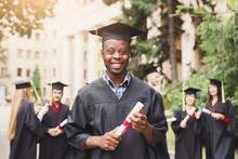 Young Black Man On His Graduat...