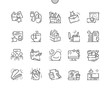 Leinwanddruck Bild - Office Well-crafted Pixel Perfect Thin Line Icons 30 2x Grid for Web Graphics and Apps. Simple Minimal Pictogram