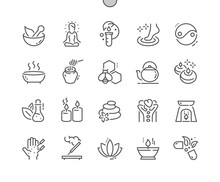 Alternative Medicine Well-crafted Pixel Perfect Vector Thin Line Icons 30 2x Grid For Web Graphics And Apps. Simple Minimal Pictogram