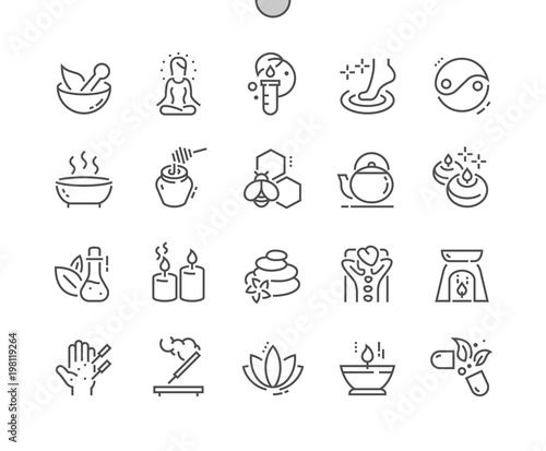 Fotografía  Alternative medicine Well-crafted Pixel Perfect Vector Thin Line Icons 30 2x Grid for Web Graphics and Apps