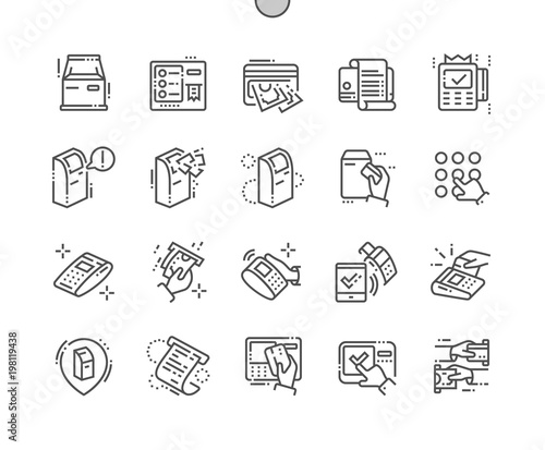 Fotografia Terminal Well-crafted Pixel Perfect Vector Thin Line Icons 30 2x Grid for Web Graphics and Apps