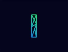 Abstract Line Art  Logo. Lette...