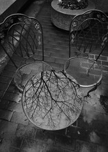 Bistro Table And Chairs Reflec...