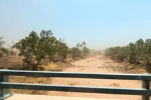 Dry River Bed Near Alice Springs In The Outback Of The Northern Territory In Australia