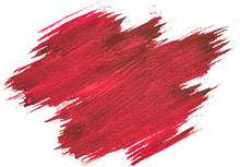 Red Watercolor Texture Paint Stain Brush Stroke