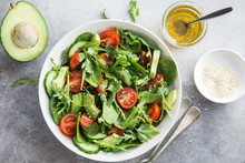 Healthy Vegan Salad (tomatoes,...