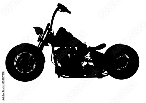 Photographie silhouette of motorcycle vector