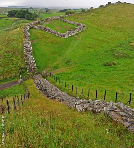 Valokuva The ruin of a Roman Milecastle on Hadrian's Wall in England.