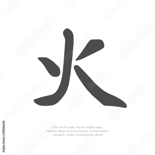 Fotomural Chinese character fire.