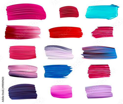 Fotomural Colorful vector paint brush strokes.