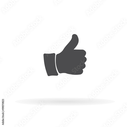 Thumbs up icon. For web, business, finance and communication. Vector Illustration.