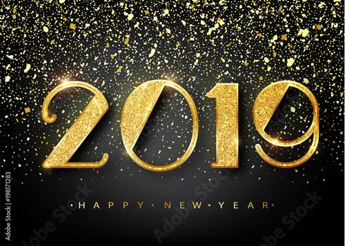 Fotografie, Obraz  2019 Happy new year