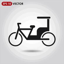 Rickshaw Single Vector Icon On...