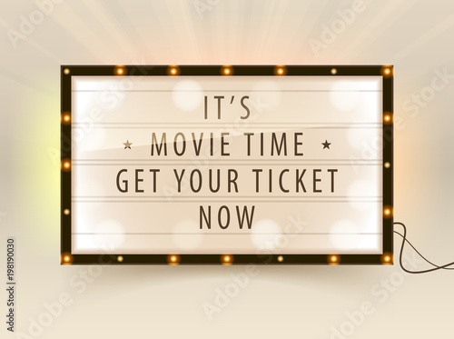 Cinema lightbox – kaufen Sie diese Vektorgrafik und finden Sie ...