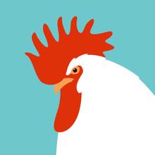 Rooster Head Vector Illustrati...