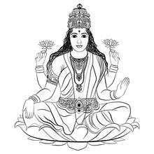 Indian Goddess Lakshmi