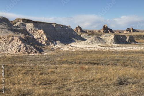 Poster de jardin Parc Naturel Badlands National Park, South Dakota